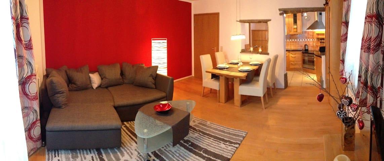 Sonnige Ferienwohnung mit Bergblick - Schönau am Königssee - Wohnung