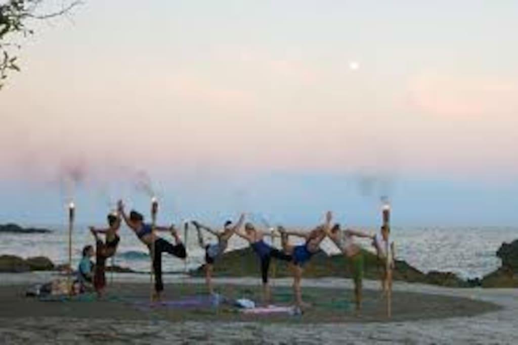 Full Moon Beach Yoga Rocks! ~ namaste