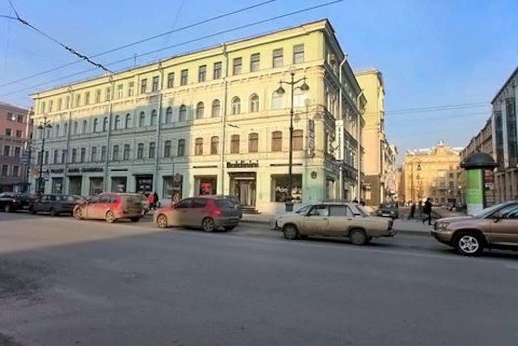 Дом в котором расположены апартаменты