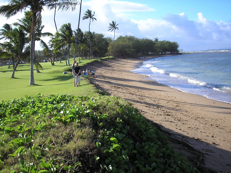 The beach at Maui Sunset