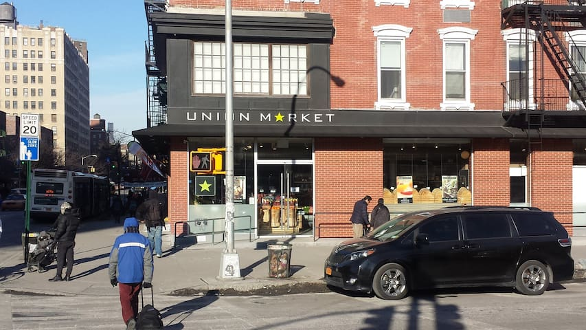 Union Market - an excellent grocery store one block from the apartment