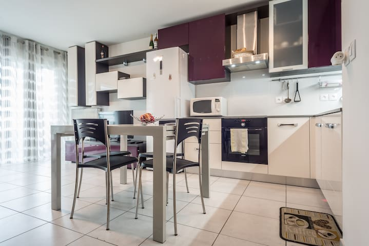 Modern studio  5 minutes from cern - Saint-Genis-Pouilly - อพาร์ทเมนท์