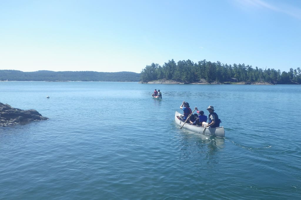 Canoeing or kayaking to explore the many hidden Bays.