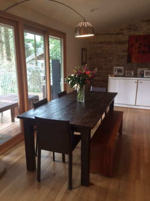 modern farm table seats 8
