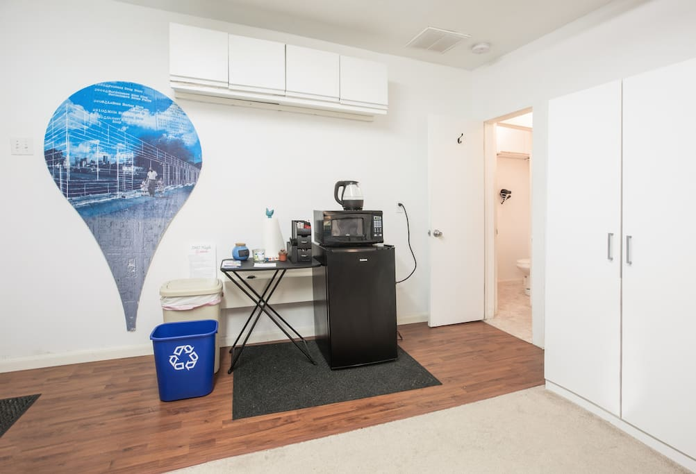 Your own private kitchenette and full bathroom!