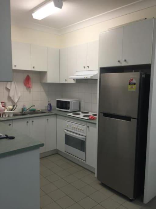 kitchen downstairs (split level apartment)