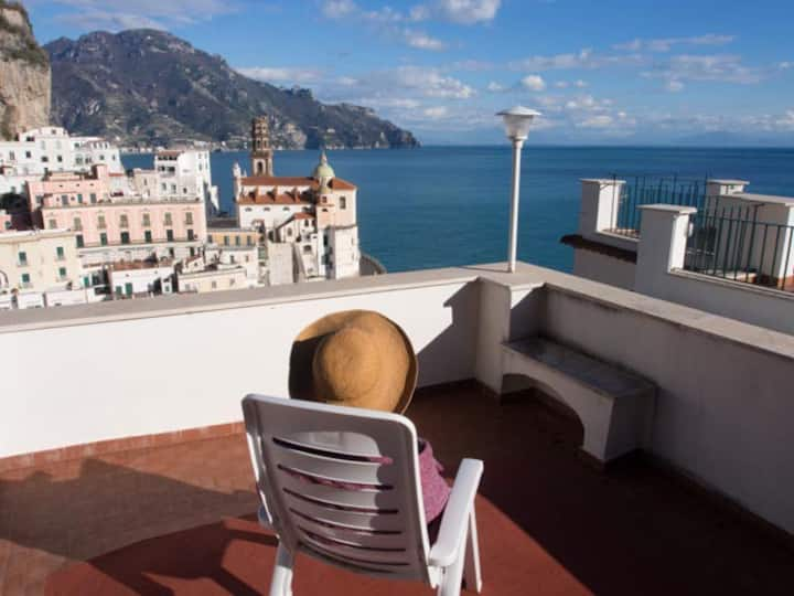 Casa Almagio - Amalfi coast - terrace & seaview