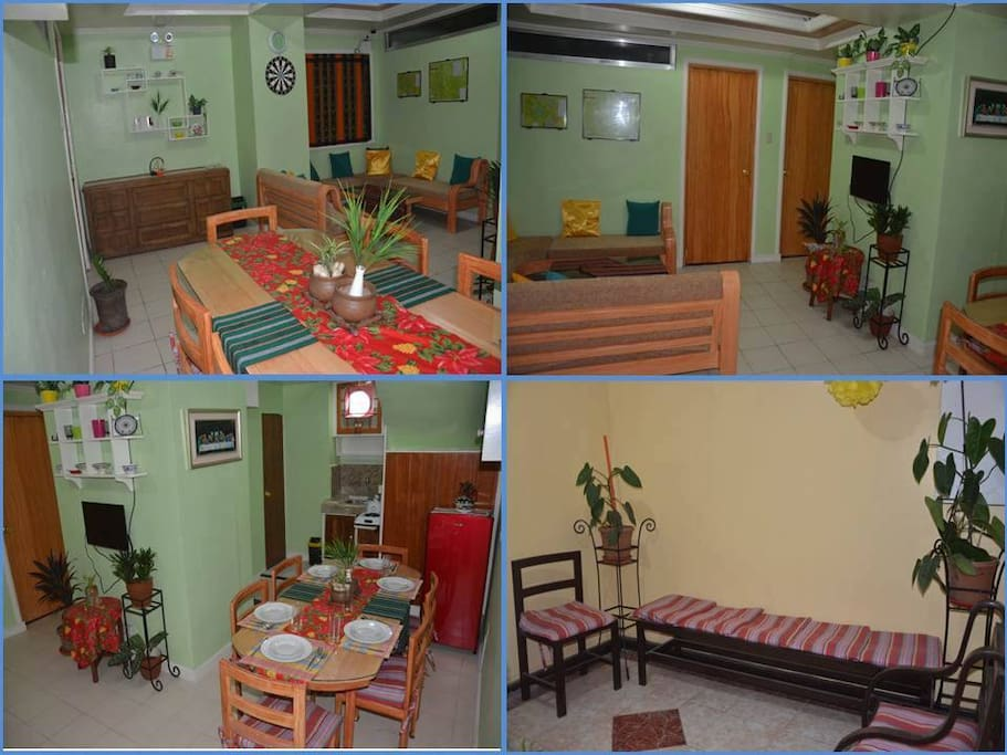 Condominium Unit #101 is in Athena Tower, located at #126 Dominican Hill Road, Baguio City. Unit #101 is leased to transients as whole unit. It has three (3) bedrooms, spacious living room, dining room/kitchen, toilet/bathroom and a lanai.  Total floor area is 58 square meters.  Bed capacity is up to eleven (11) people; extra mattresses are available for a fee to accommodate more people.