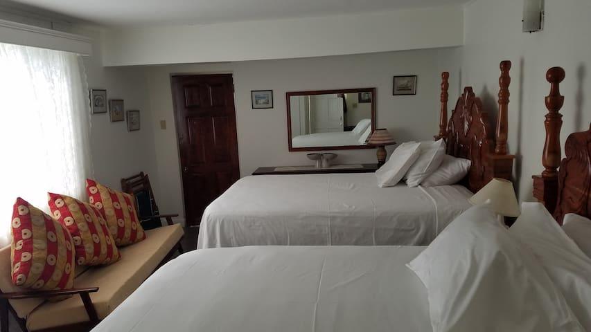 2 Queen sized beds in bedroom #1
