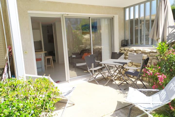 Appartement jardin - Accès direct plage du Platin