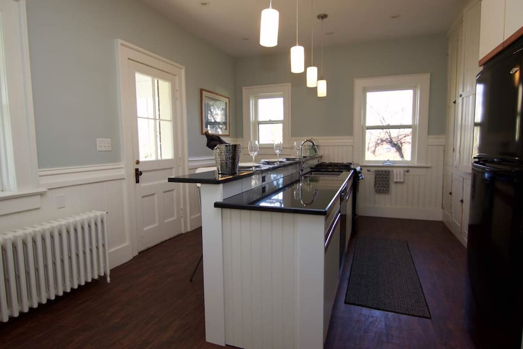The kitchen has been recently updated and is fully stocked for you to enjoy a night in.