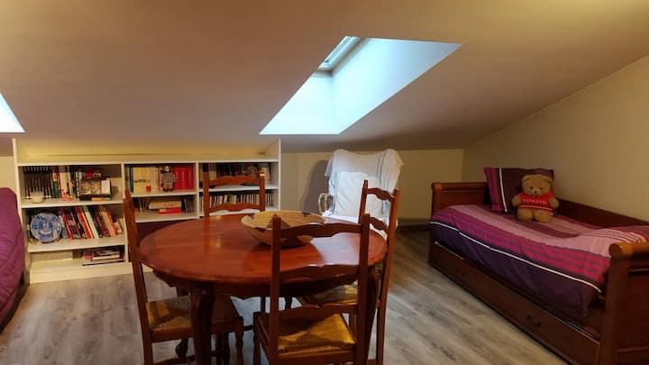 Chambre Studette cosy sous les toits