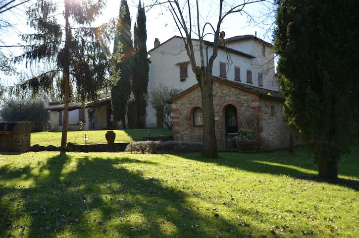 Tuscan Villas in Chianti pool-park - Sambuca - Willa