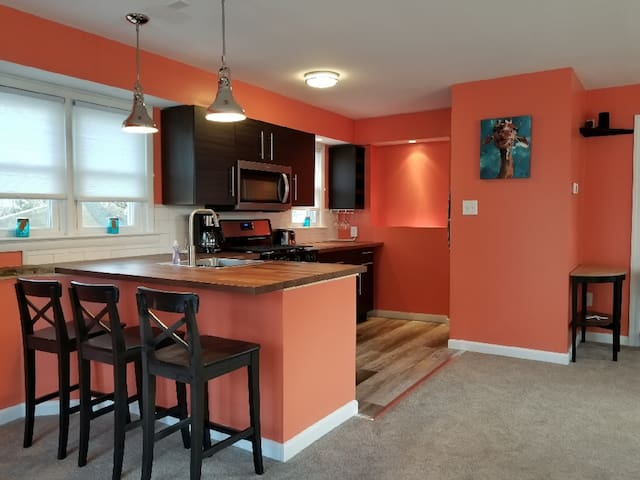 Condo with private deck -walk to everything!