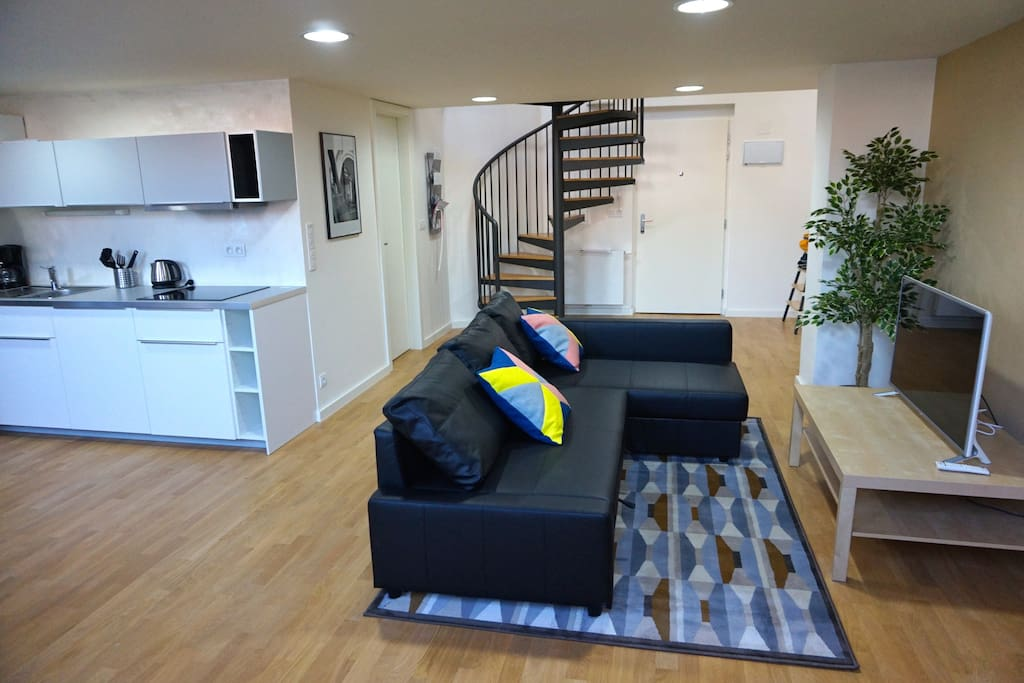 LARGE LIVING ROOM WITH PULL OUT SOFA