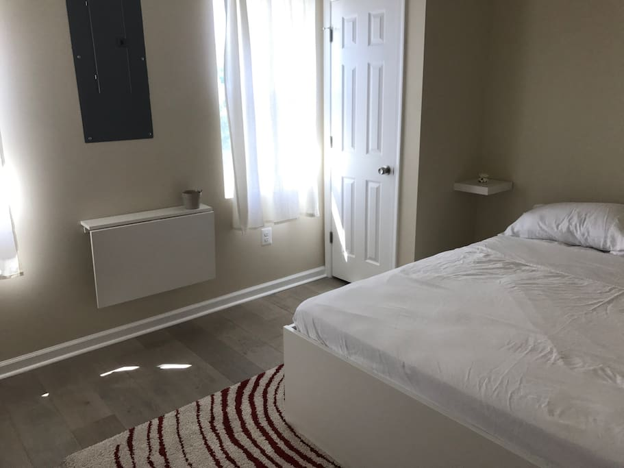 Master bedroom with very comfortable Queen bed