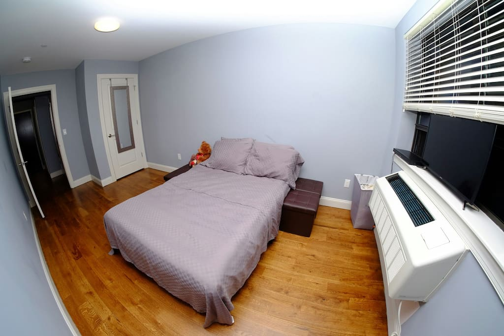 Clean Private Room | 1 BD  Full Size Bed or Twin Size Bed and/or Futon will be provided.  Air Conditioner & Heater unit will keep you warm in the Winter and cool in the Summer :)