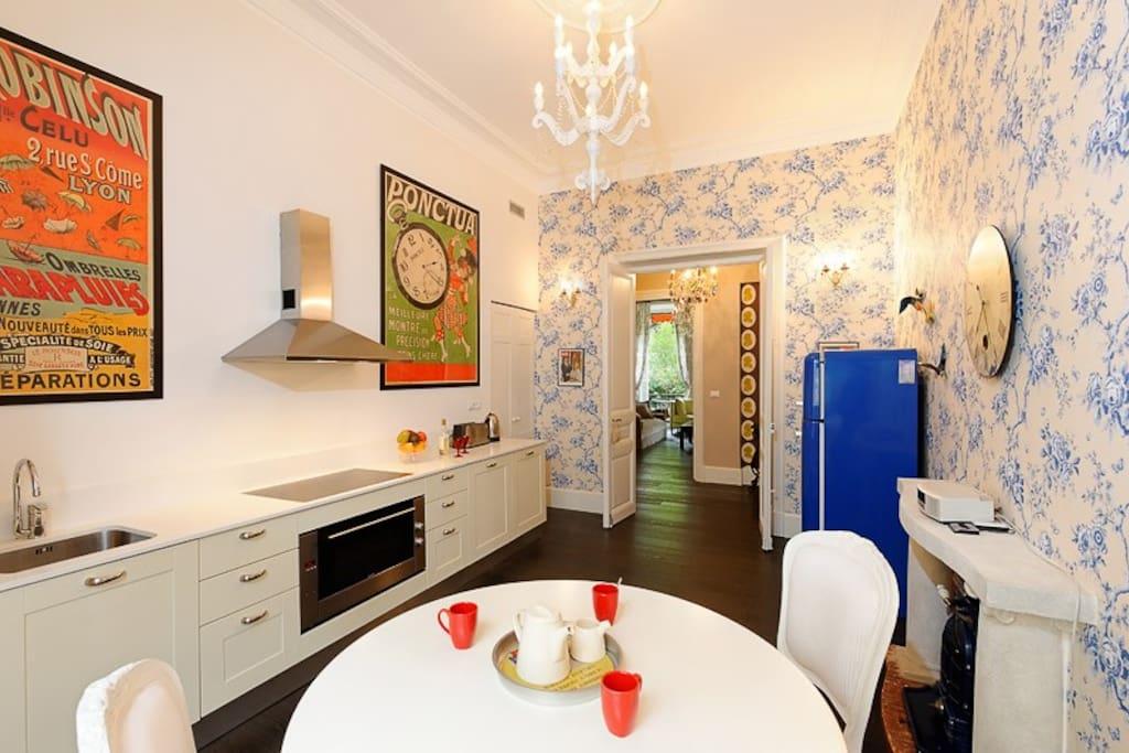 Designer kitchen.