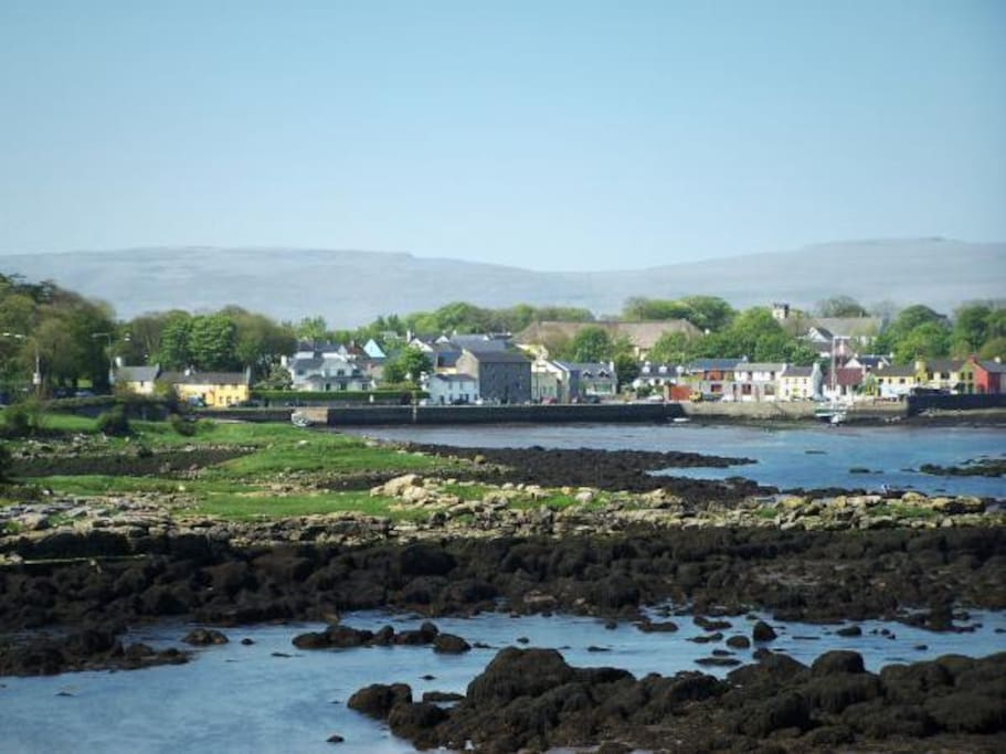View of Kinvara Village from Dunguaire Castle