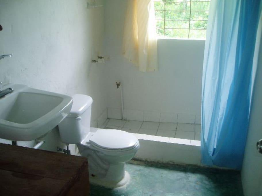 el baño para tomarse una buen ducha caliente