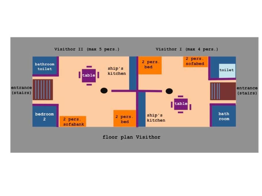 Visithor I and II floor plan