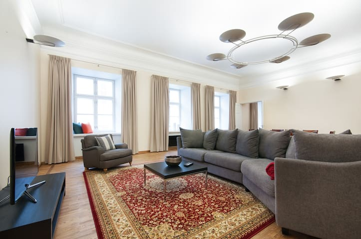 Apartment with sauna and huge living room