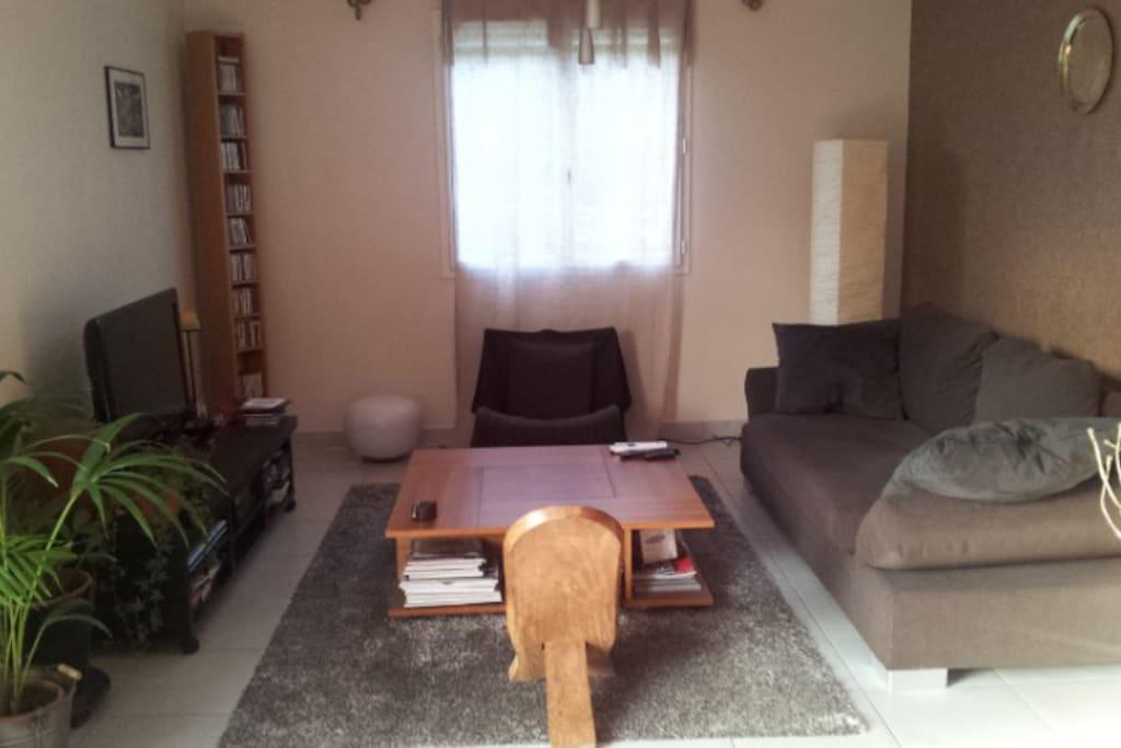 Salon coté  canapé - Living room