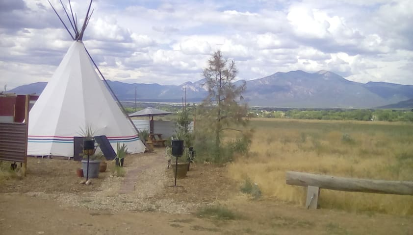Taos Mountain Sunset Tipi