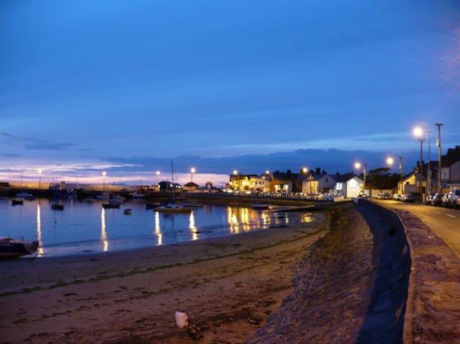 Skerries harbour, 10 min walk away