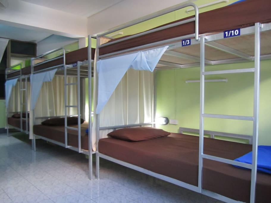 Bunk bed in dormitory
