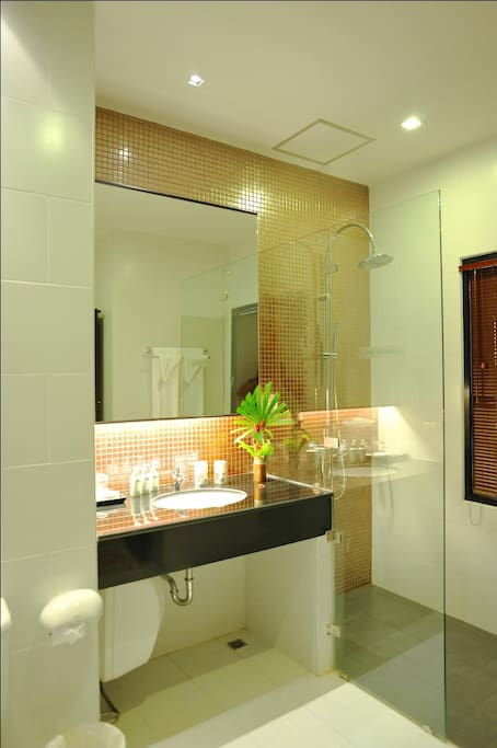 Rain Shower with big space of bathroom and full amenities