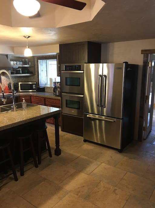 Double convection ovens and stainless steel refrigerator