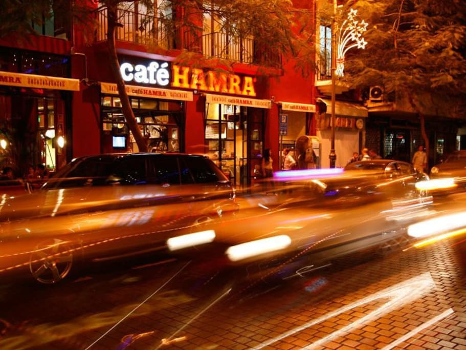 Seven-minute walk to Hamra area.