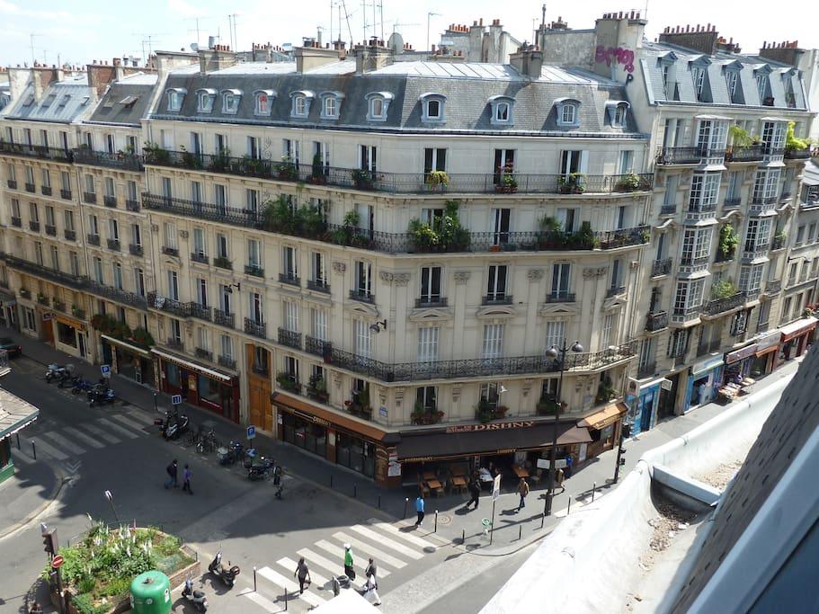 Vue Est Rue du faubourg Saint Denis