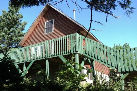 OCEAN frontage  Cedar log House. - Port Medway - House