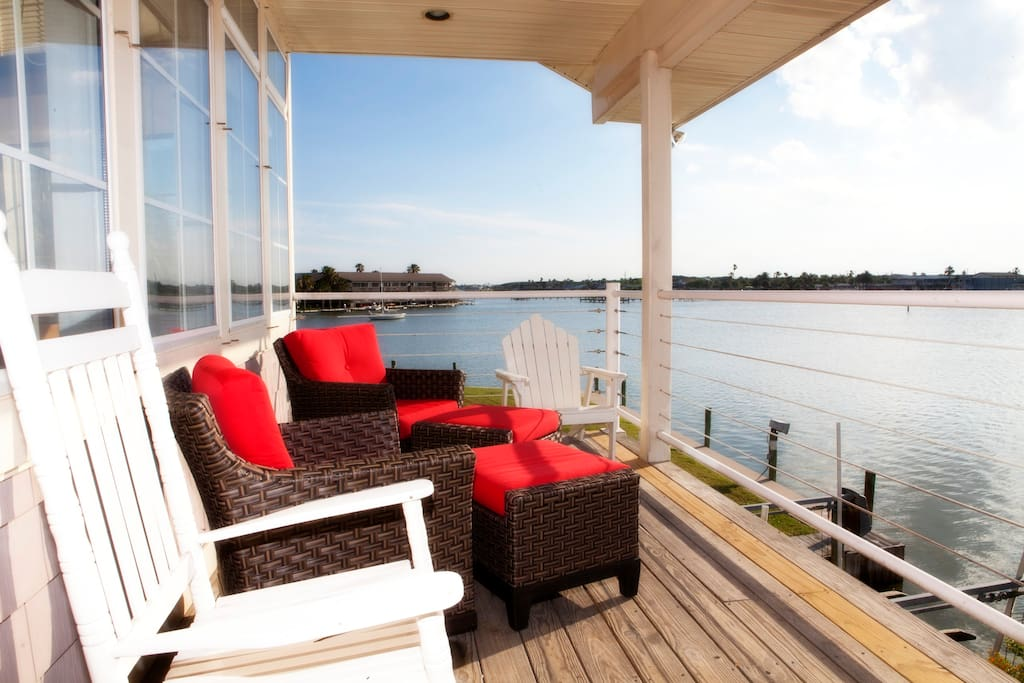 Fabulous views from upper covered deck.
