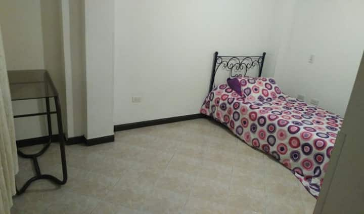 Great room with private bathroom and office space
