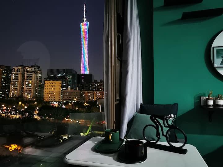 【塔畔】Green Free | 望广州塔|琶洲广交会|珠江新城|小蛮腰|长隆|美领馆