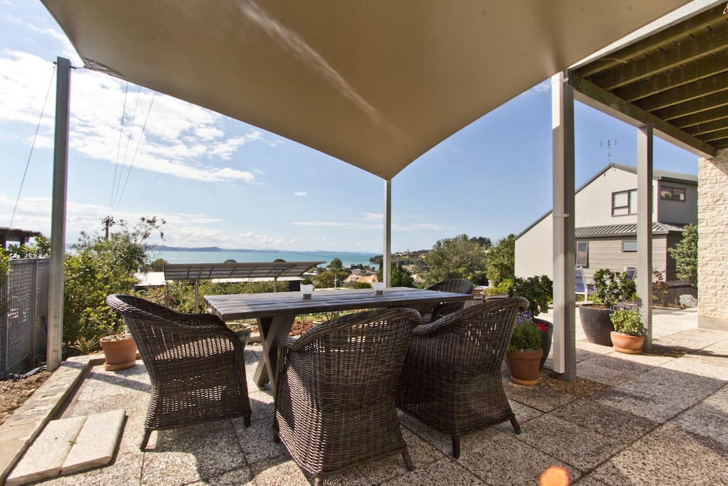 Relax outside your unit with extensive sea views   ...
