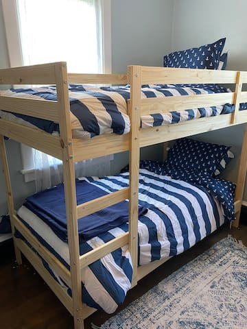 Bunk beds In the back bedroom