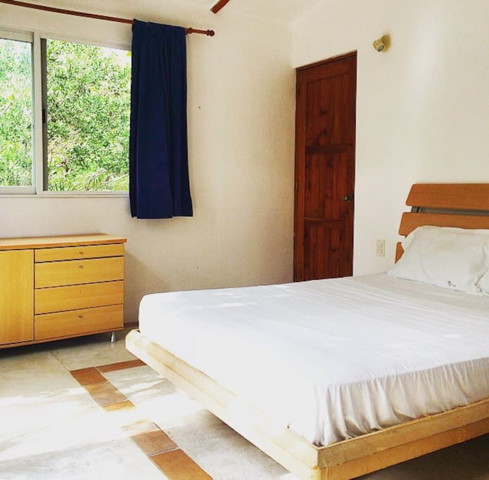 Luminous room with straight access to the terrace, comfortable double sized bed and bathroom with shower (hot water available)
