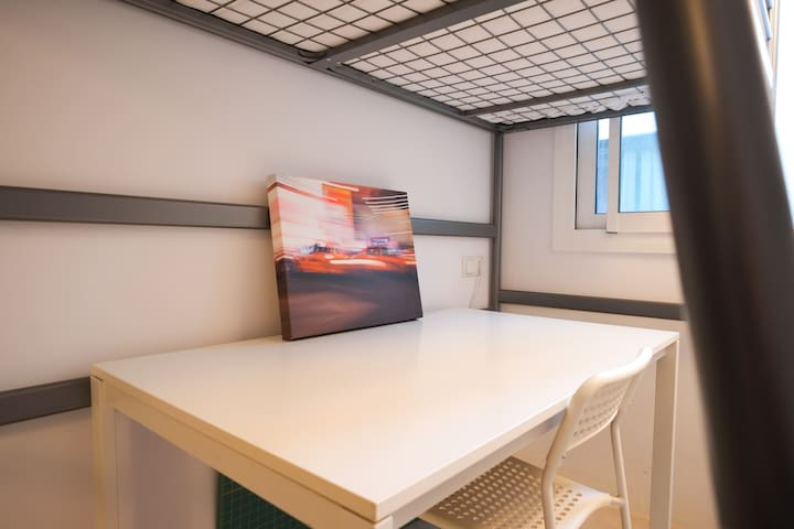 'Cloud' Single room in modern top floor apt. - Barcelone - Appartement