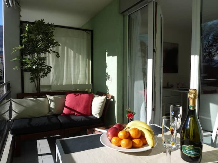 Gemütliches helles Studio in Ascona mit Terrasse
