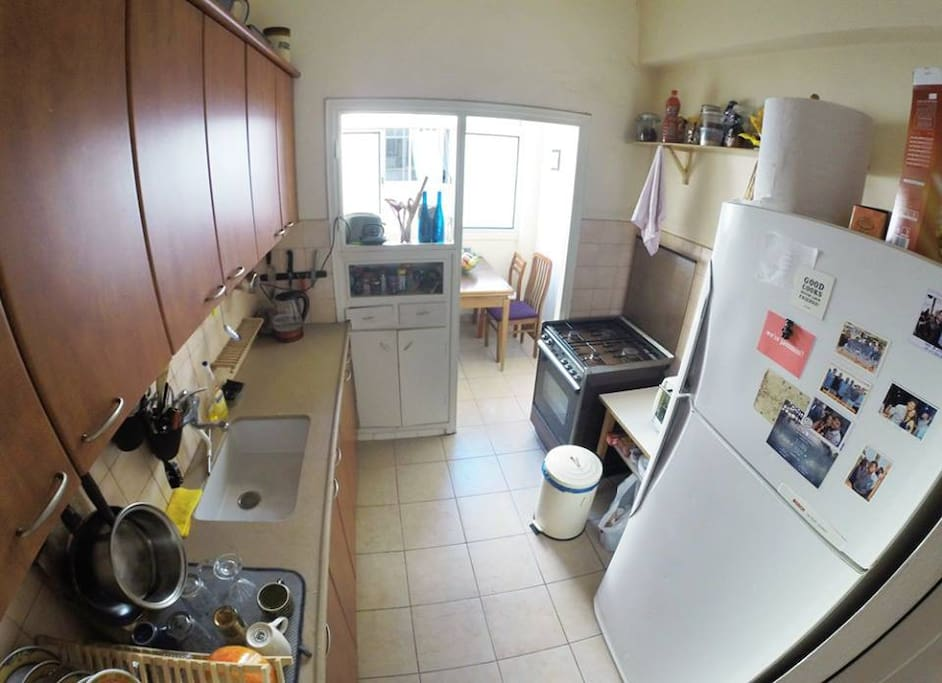 Fully utilized kitchen: fridge, owen, grill, espresso machine ...