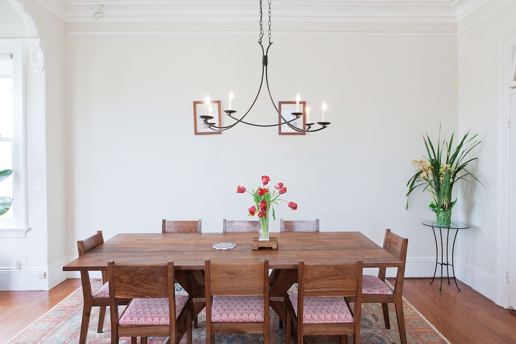 Dining room can seat eight