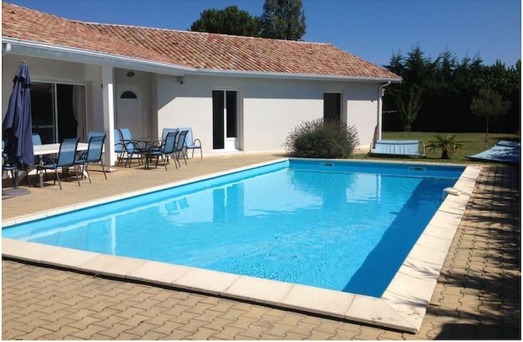 Chambre privée villa piscine lac Cazaux Arcachon - La Teste-de-Buch - Dům pro hosty