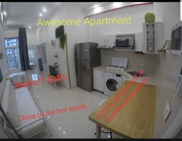 New 2/1 in desirable Achrafieh. Long term only pls