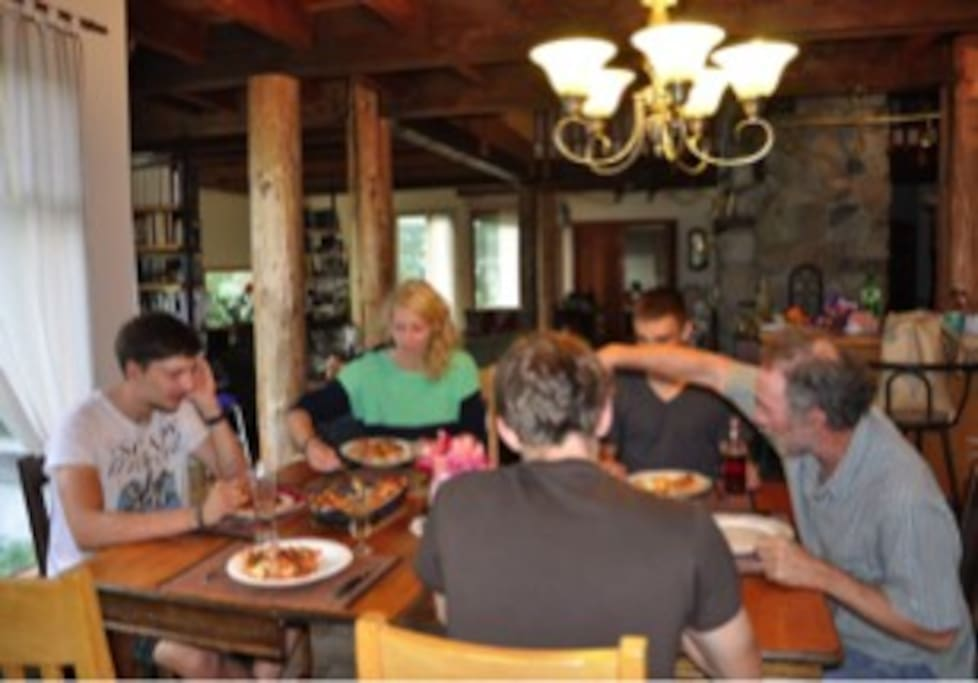 Dinner with our guests