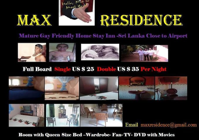MAX RESIDENCE- Mature Gay  Friendly - Minuwangoda