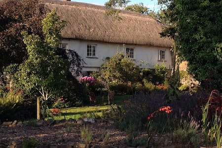Luxury Thatched Farmhouse set in beautiful gardens - South Molton
